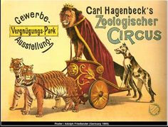 Victorian circus advertising poster