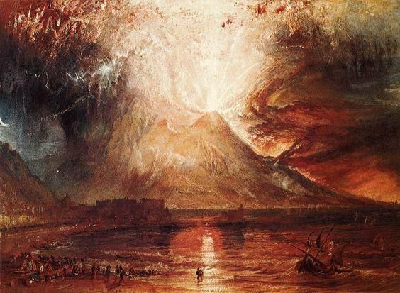Eruption of Vesuvius 1817 JMW Turner