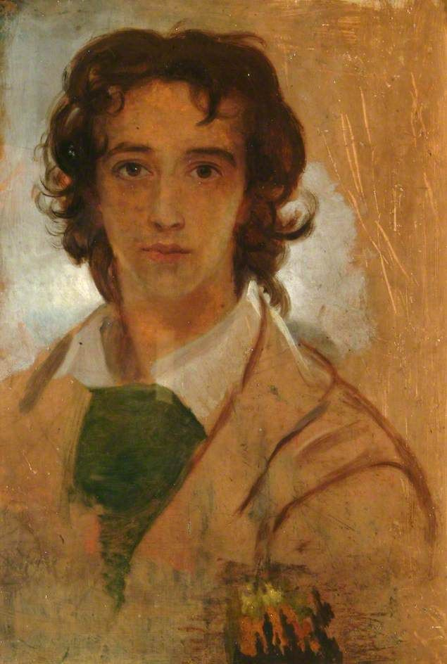 A young portrait of George Frederic Watts at the age of 17