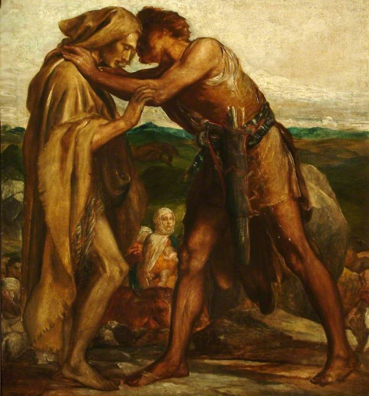 'Jacob and Esau' by GF Watts at the Athenaeum.
