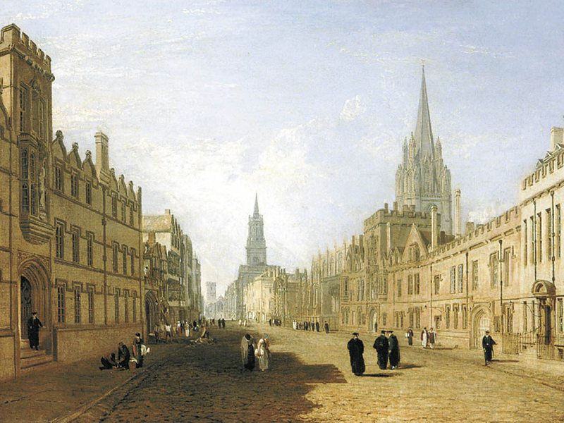 View of the High Street Oxford Ashmolean JMW Turner